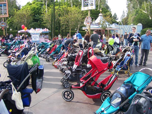 It s a crowded stroller parking lot after all sadly henry cried