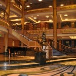 Families and friends will have their names announced as they enter this beautiful lobby to board the ship!