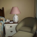 Old Key West Master Bedroom Wicker Chair and Nightstand