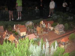 Minature train Village outside Epcot's Germany Pavilion