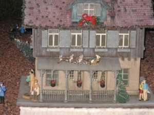 Epcot's Germany Pavilion minature train village display