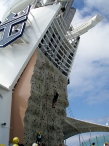 Rock Climbing on Mariner of the Seas