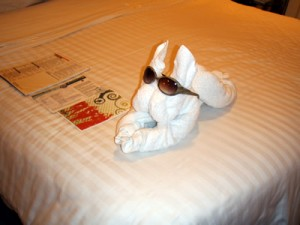 Towel Animal on Mariner of the Seas