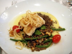 Pan-Seared Golden Sea Bass