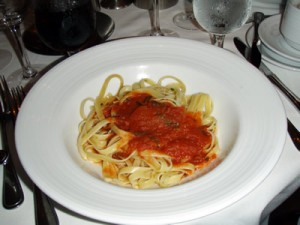 Linguini with Marineara Sauce