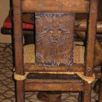 Lion King etching on dining room chair
