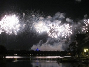 Wishes as seen from the marina at Disney's Grand Floridian and Spa