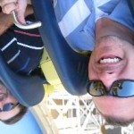 In the loop on California Screamin' at Disney's California Adventure - yes, we really were upside down!