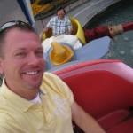 A bit more gentle ride on Dumbo at Disneyland