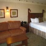 Bedroom area - King Room w/ sleeper sofa