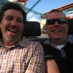 Ric & Steve spinning out of control on Primeval Whirl at Disney's Animal Kingdom