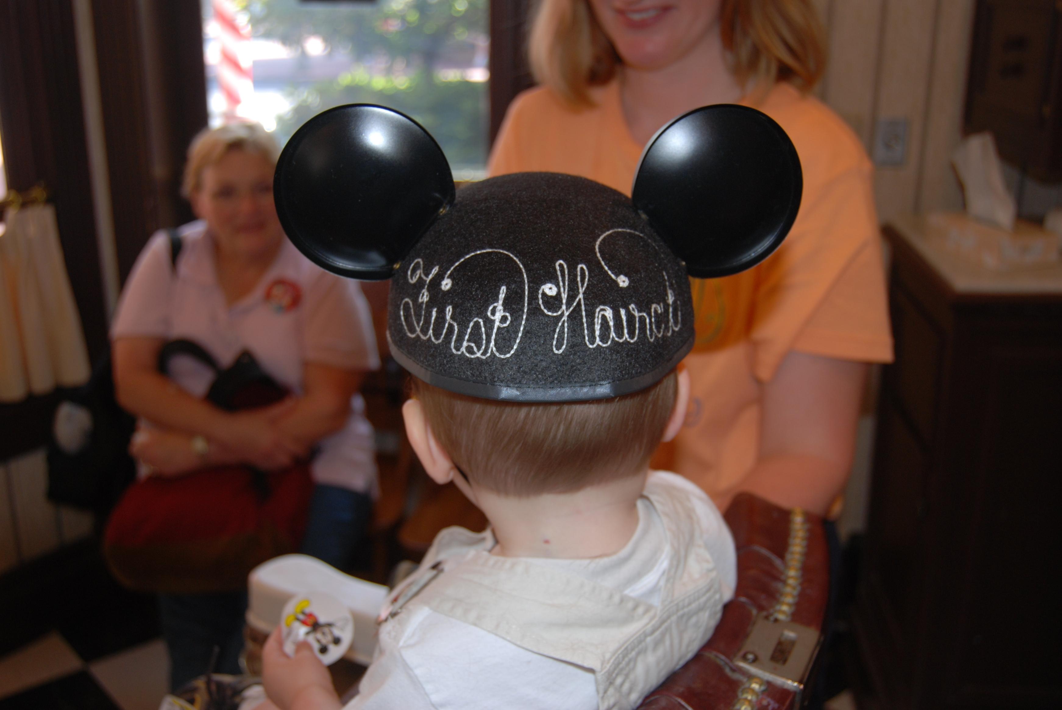 Clayton's first haircut ears...