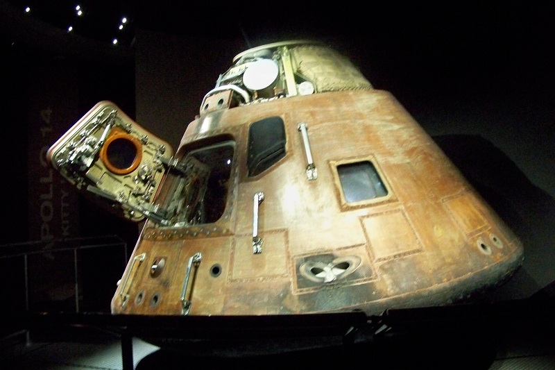 Many of us remember watching these landing in the ocean after they came back to earth after a successful trip.  It was always a thrill to see the door open and the astronauts come out.