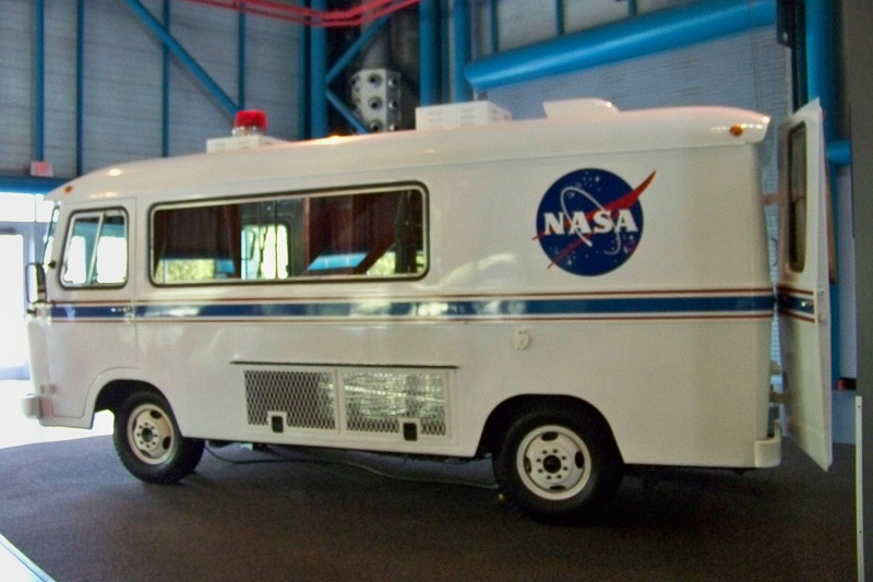 Astronaut van that will take the astronauts to their shuttle