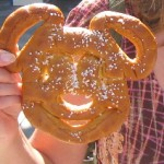 A Mickey shaped pretzel at Disney's California Adventure
