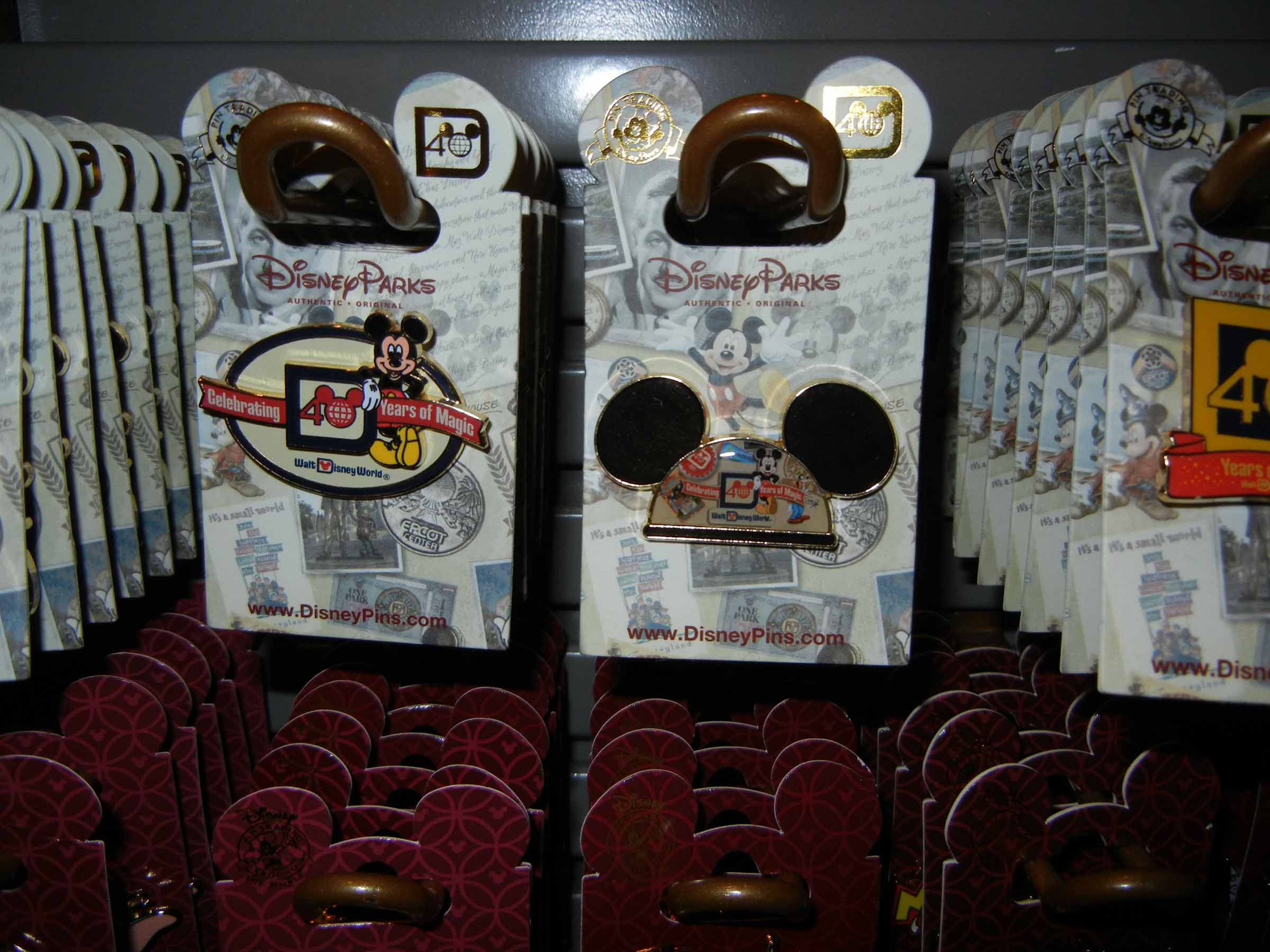 Walt Disney World 40th Anniversary Pins
