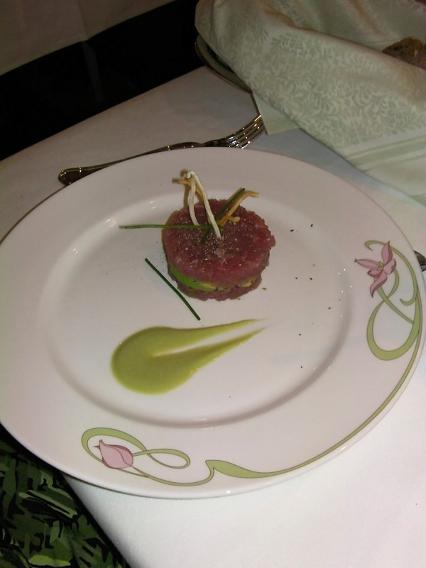 Disney Dream - Ahi Tuna and Avocado Appetizer