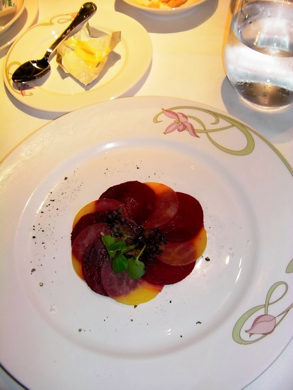 Disney Dream - Beet Salad Appetizer