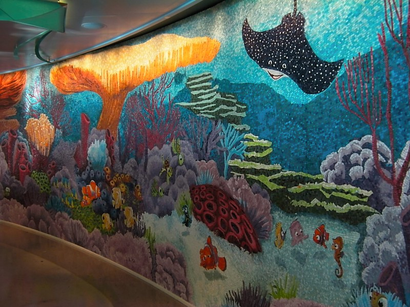 Disney Dream Cabanas Finding Nemo Wall