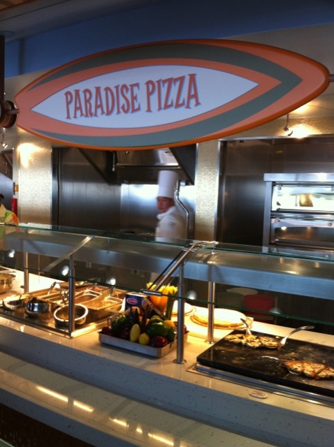 Disney Dream Cabanas Pizza Station