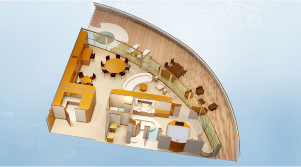 Disney Dream Roy Disney Suite layout