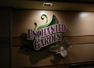 Disney Dream Enchanted Garden Sign