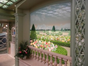 Painted Frescoes of Enchanted Garden on Disney Dream