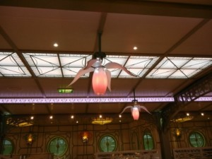 Disney Dream Enchanted Garden Flower Light at night