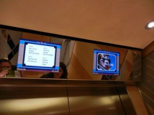 Disney Dream elevator signs