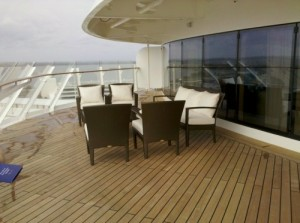 Disney Dream Walt Disney Suite verandah