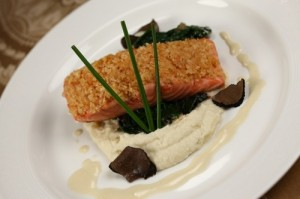 Oven-Baked Salmon Royale on the Disney Dream