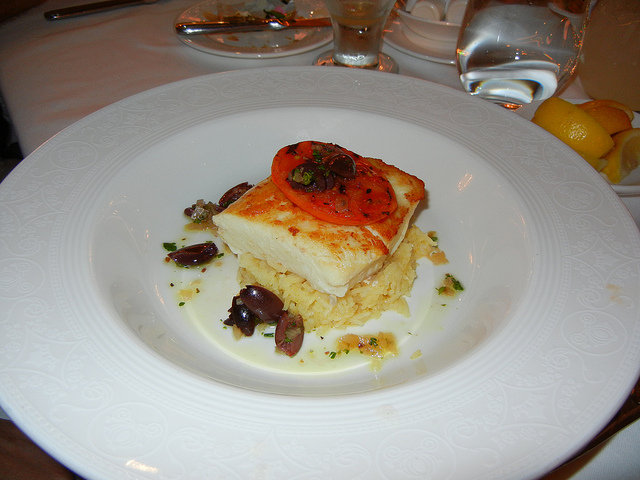 DCL DReam Royal Palace Lunch Halibut