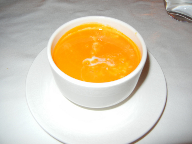 DCL DReam Royal Palace Lunch ginger carrot soup