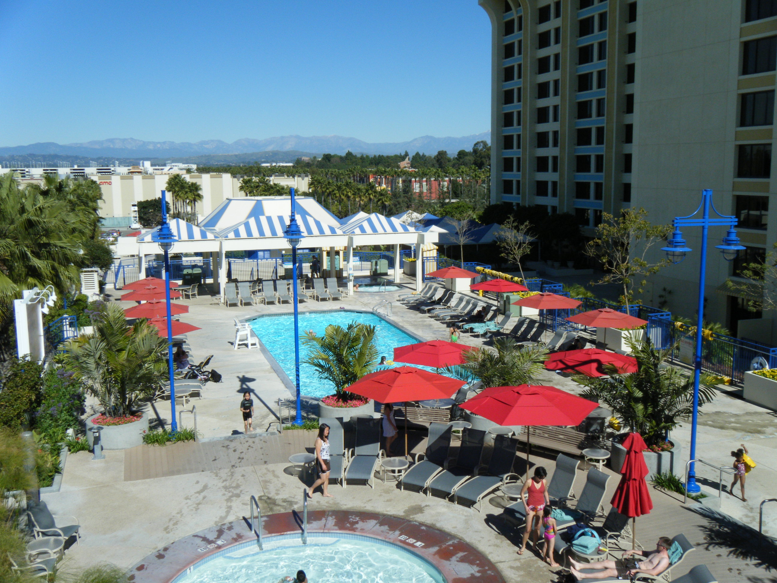 View from the Top of the Paradise Pier Hotel Slide