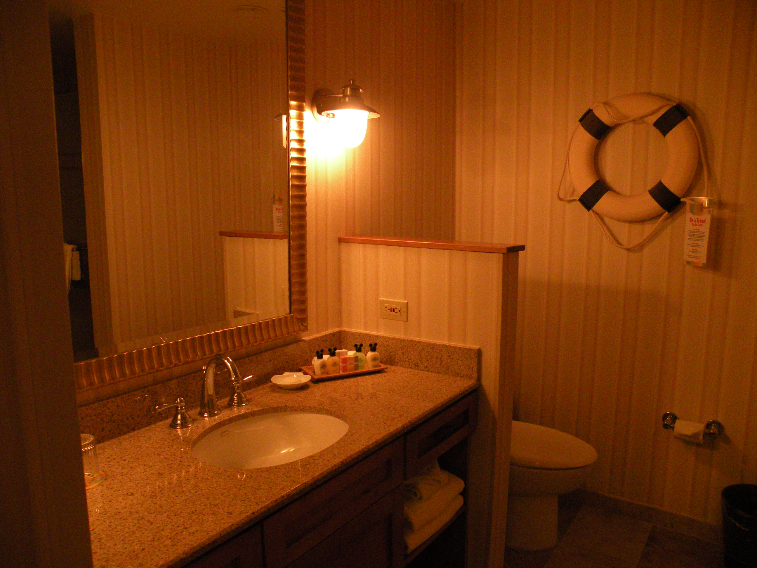 Bathroom #1 Counter and Toilet