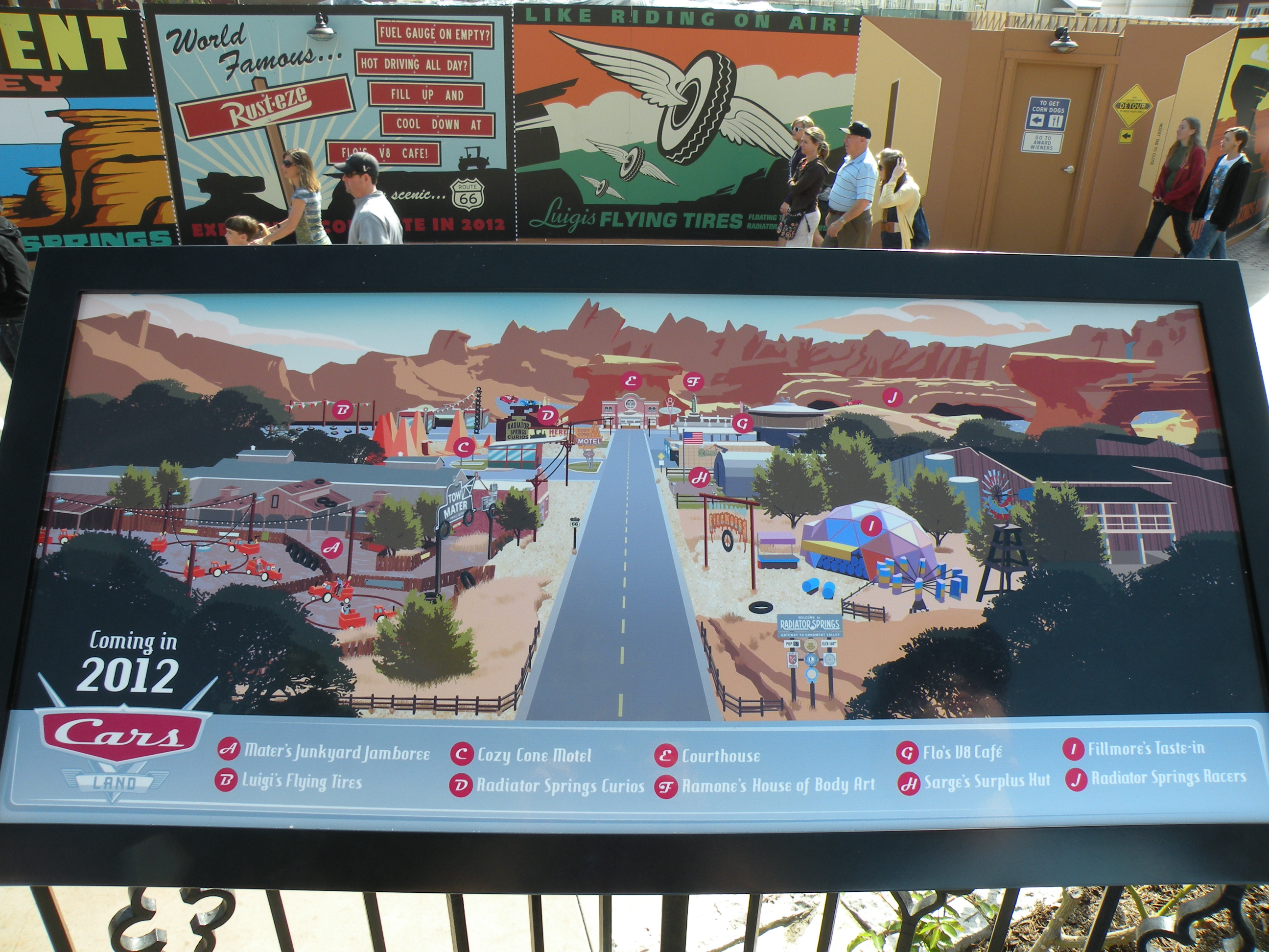 Cars Land Layout
