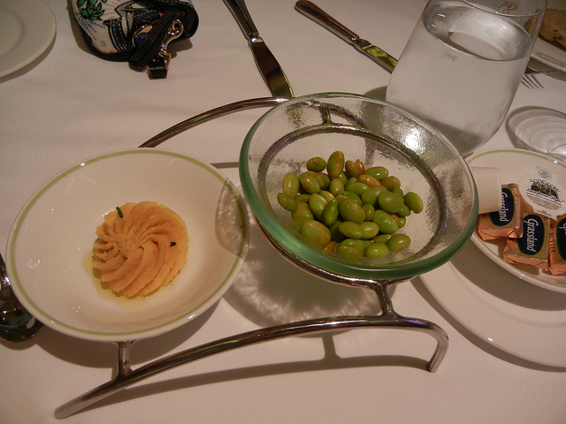 Disney Dream Enchanted Garden Chickpea-Garlic Puree for bread service