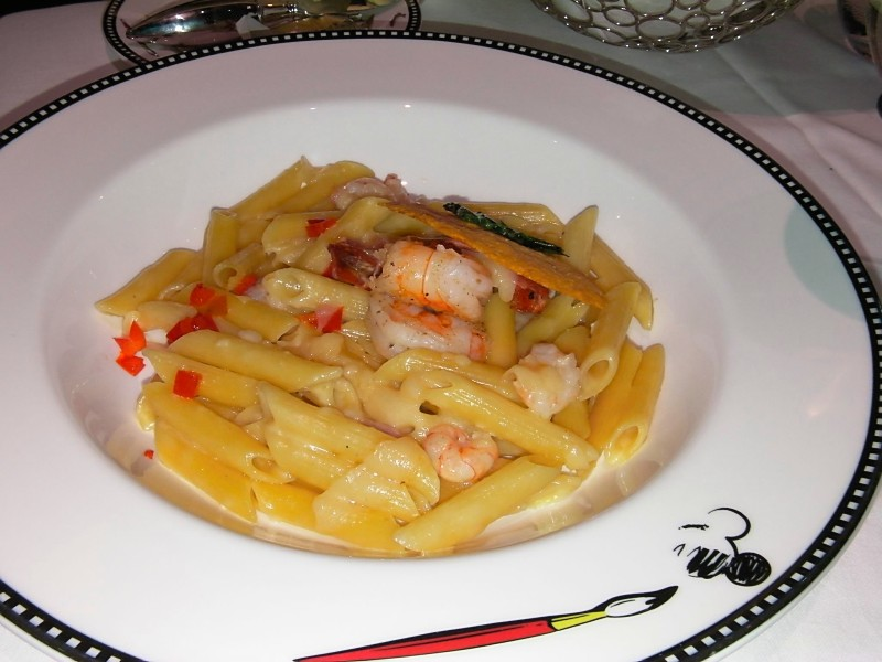 Disney Dream - Penne Pasta with White Shrimp