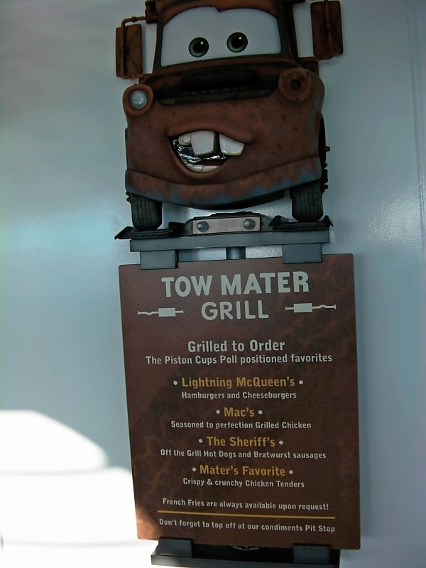 Disney Dream Tow Mater Grill