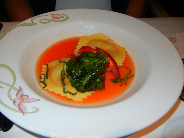 Enchanted Garden Jan 2011 Lobster Ravioli