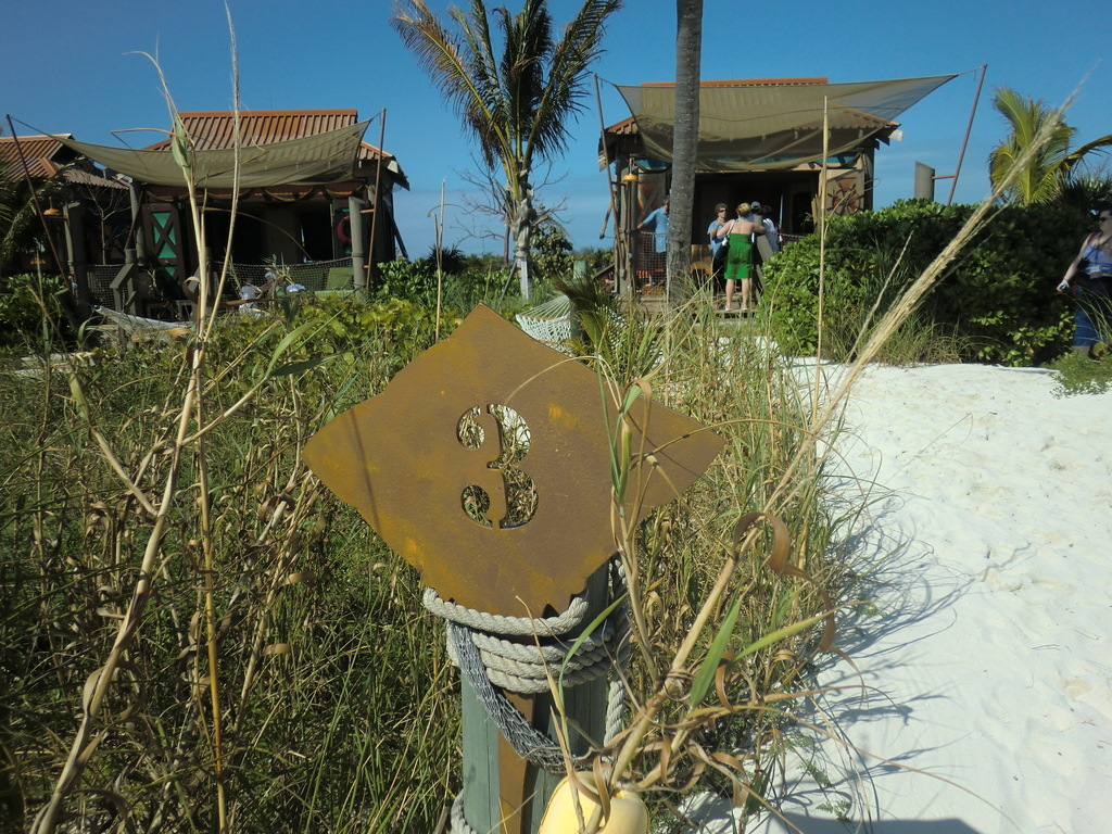 Castaway Cay Cabana beach front