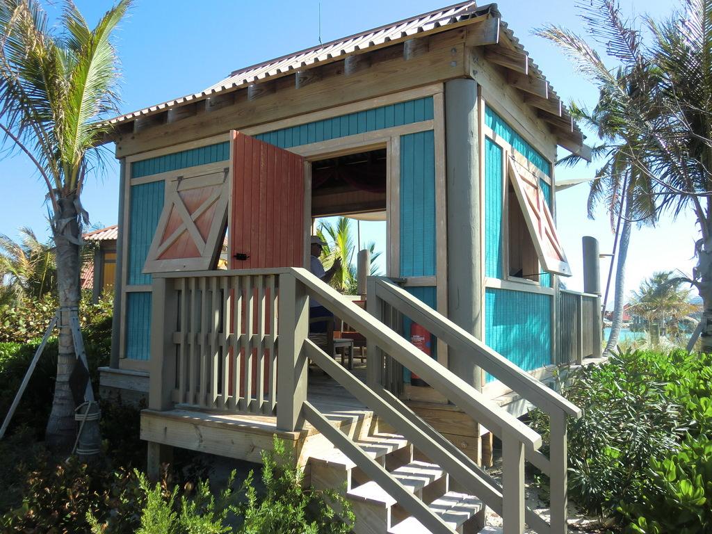 Castaway Cay Cabana from walkway