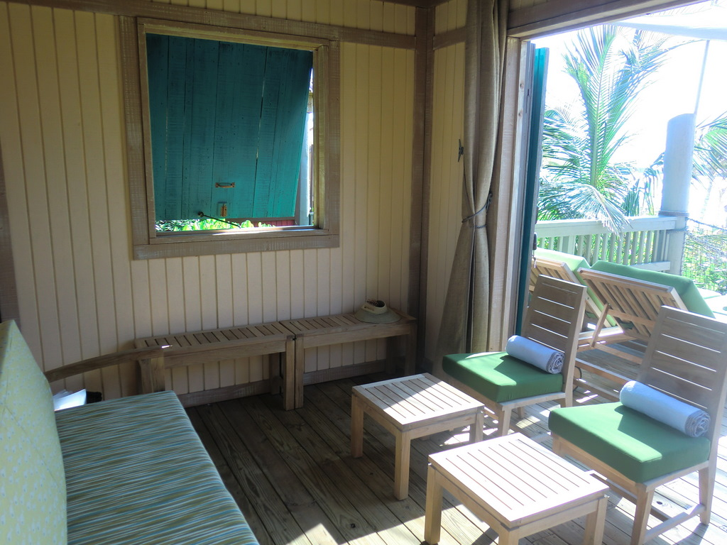 Castaway Cay Cabana inside chairs