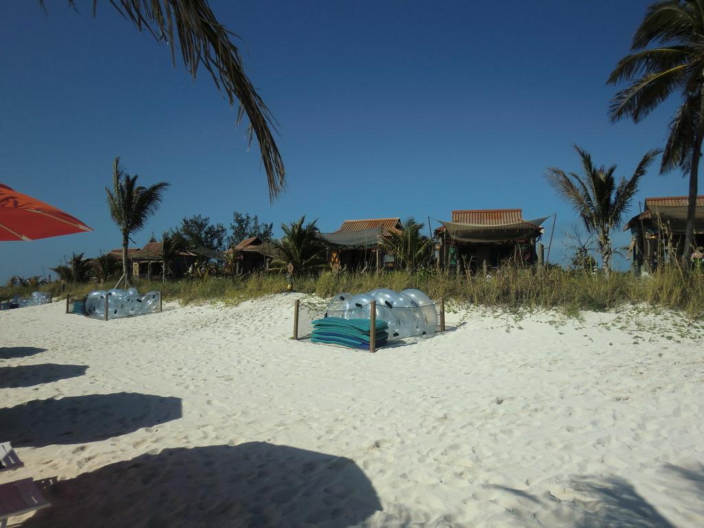 Castaway Cay Cabanas Line the Beach Area