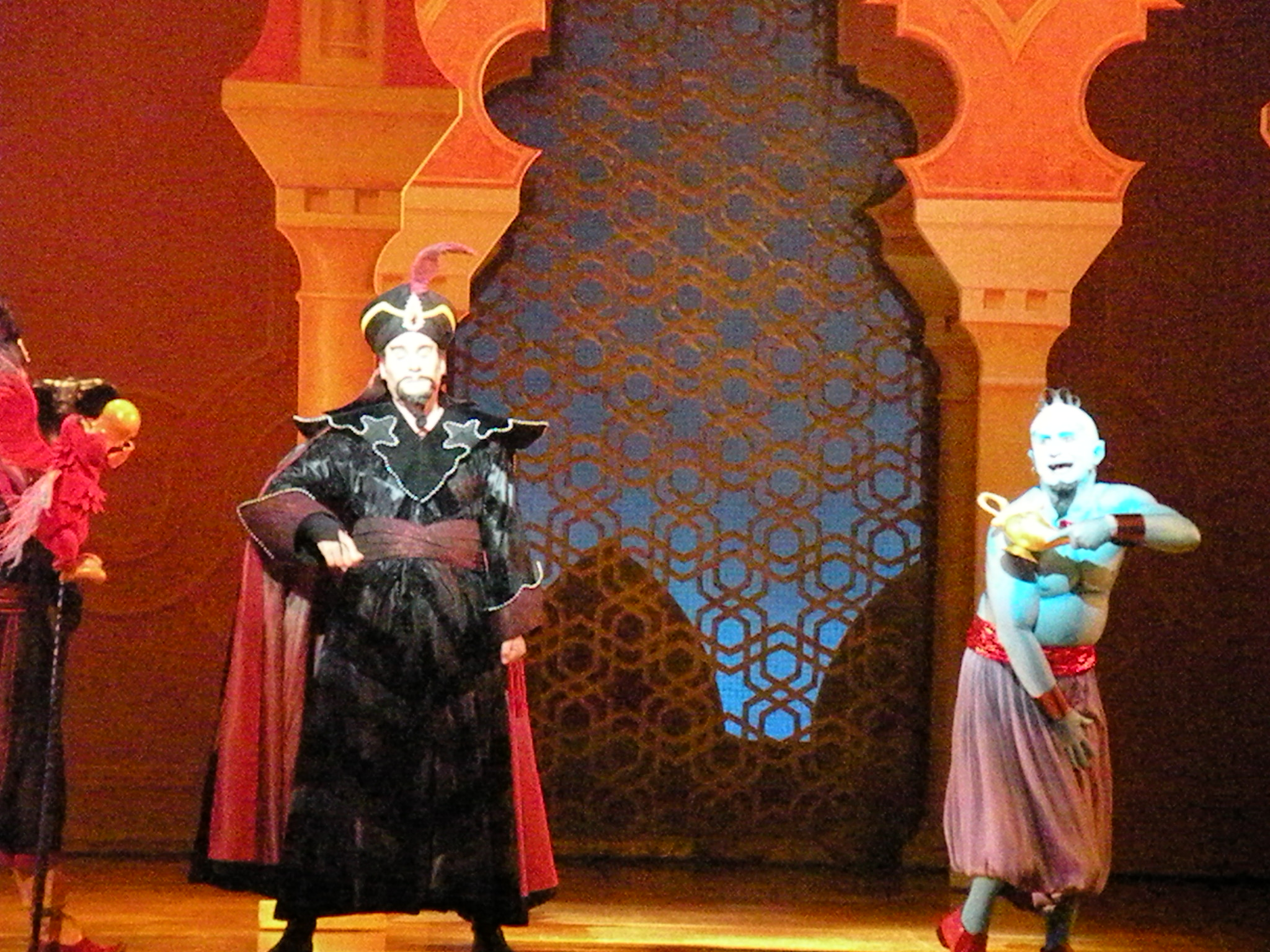Jafar gets the lamp and finds Genie mid-shower.
