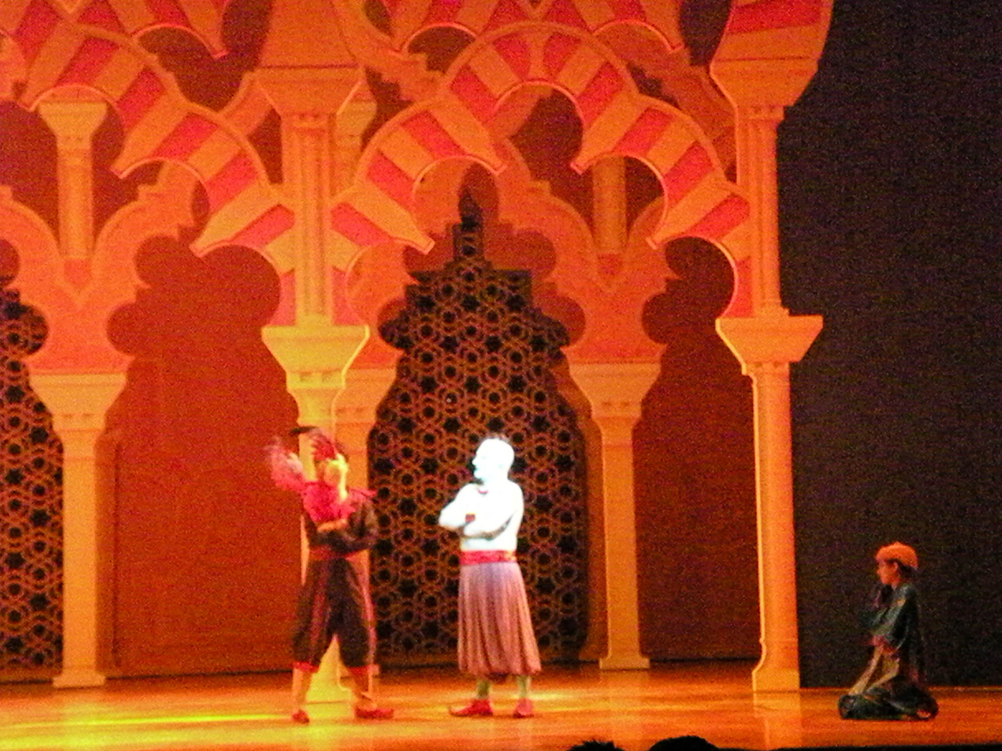 After Jafar is captured in the lamp, Genie turns his attention to Iago.
