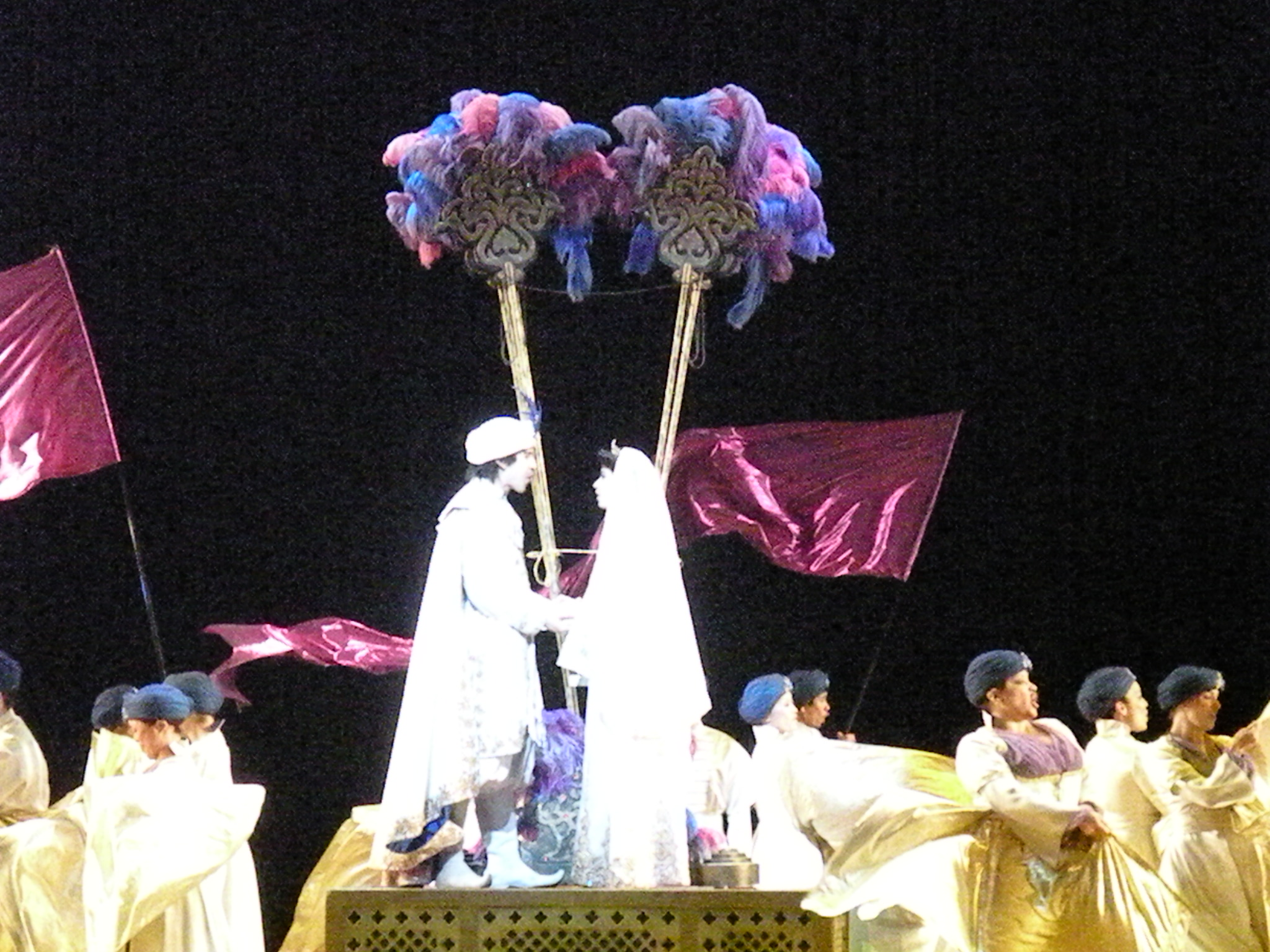 Princess Jasmine chooses Aladdin.
