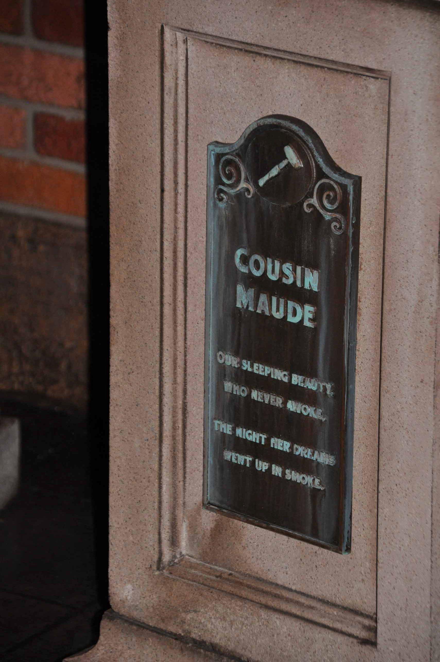 Haunted Mansion Queue - Cousin Maude 2
