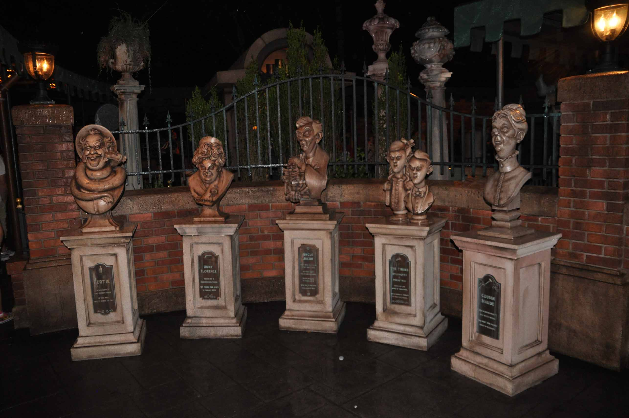 Haunted Mansion Queue - Some of the characters you will meet