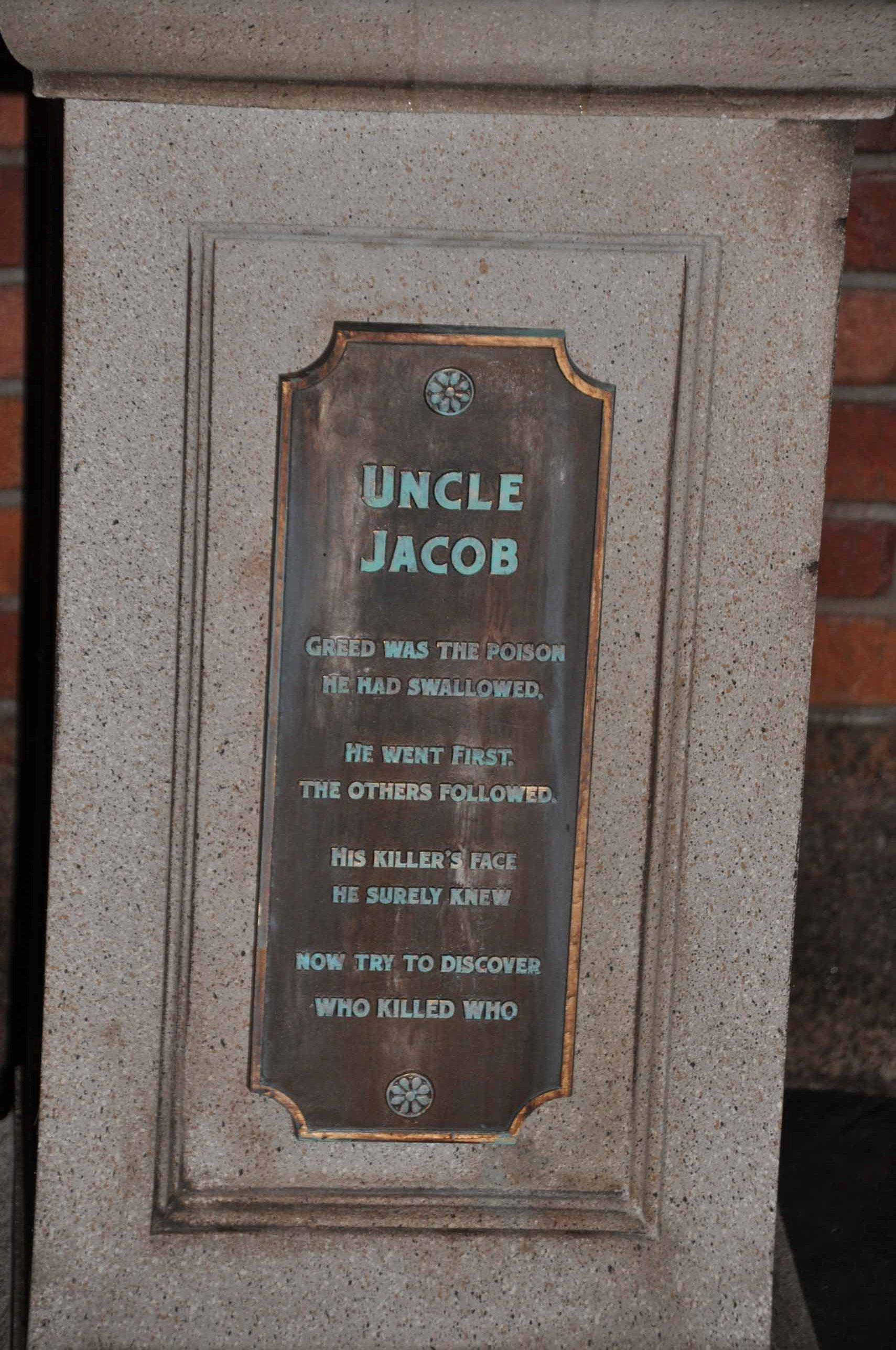 Haunted Mansion Queue - Uncle Jacob 2